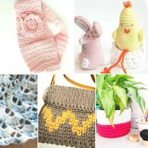 headband | amigurumis | chale | pochette | cache-pot | objets à crocheter en atelier