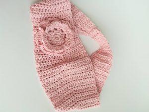 haedband crochet | headband rose | headband fleur